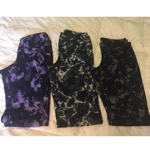 Bundle of 3 compression leggings